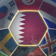 Qatar Flag on a Soccer Ball - Football in Stadium - VideoHive Item for Sale