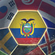 Ecuador Flag on a Soccer Ball - Football in Stadium - VideoHive Item for Sale