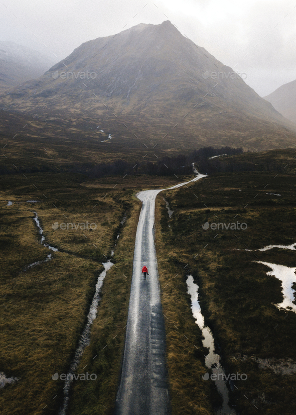 Alone in the Highlands - Stock Photo - Images