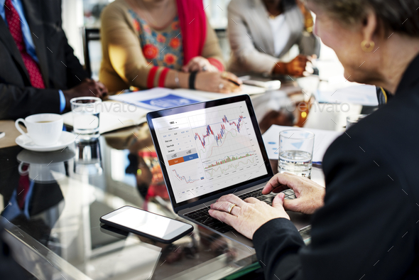 Graphic of investment stock market data analysis business - Stock Photo - Images