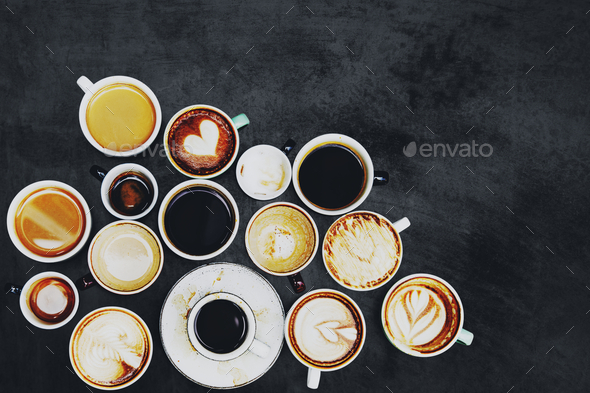 Coffee cup collection - Stock Photo - Images