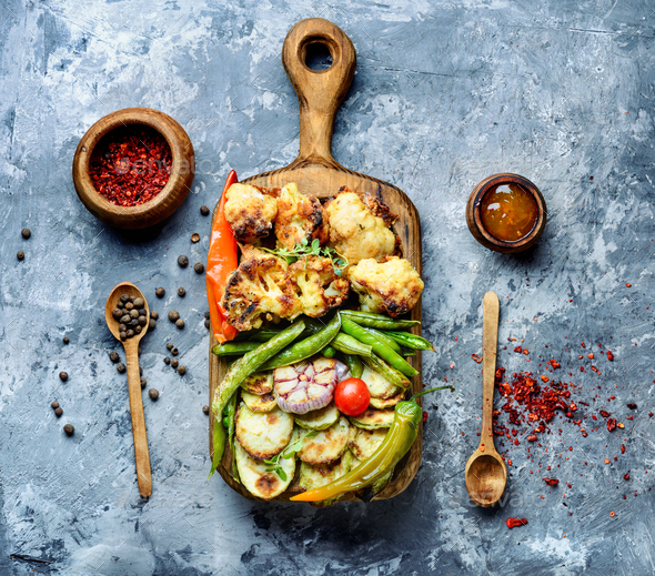 Freshly grilled vegetables - Stock Photo - Images