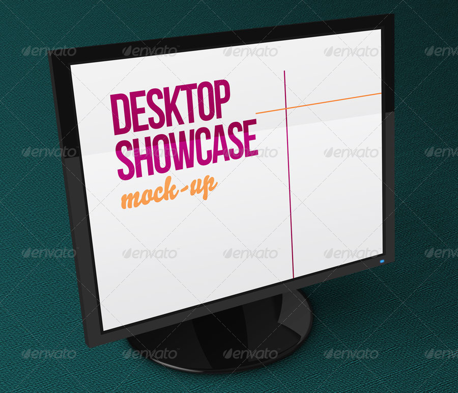 Desktop Showcase Mock-Up
