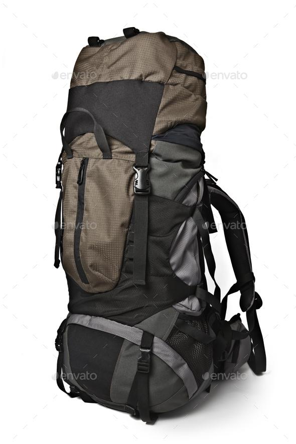 Trekking backpack isolated - Stock Photo - Images