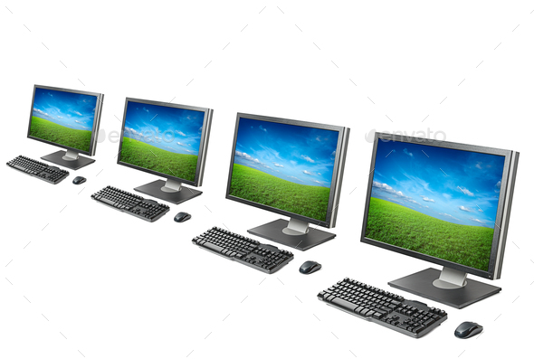 Computer workstation isolated - Stock Photo - Images