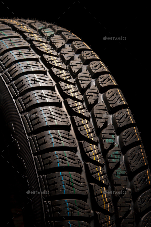 Tire close up - Stock Photo - Images