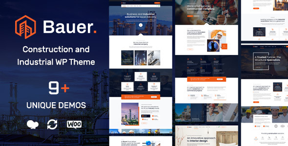 1 1] Bauer | Construction and Industrial WordPress Theme Nulled Free