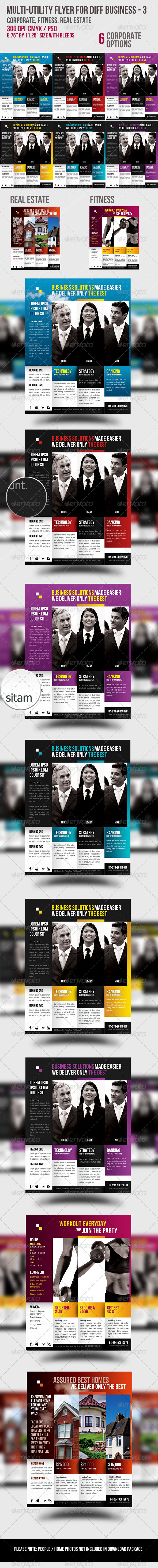 Multi-utility Flyer For Different Business - 3  - Corporate Flyers
