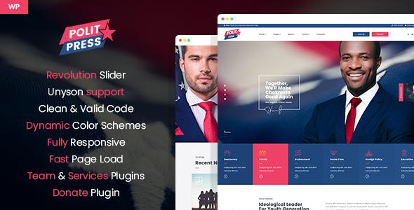 Politpress - Multipurpose Political WordPress theme by mwtemplates
