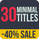 30 Minimal Titles - VideoHive Item for Sale
