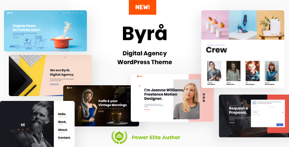 Byra - Personal Portfolio WordPress