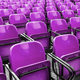 Empty plastic violet chairs - PhotoDune Item for Sale