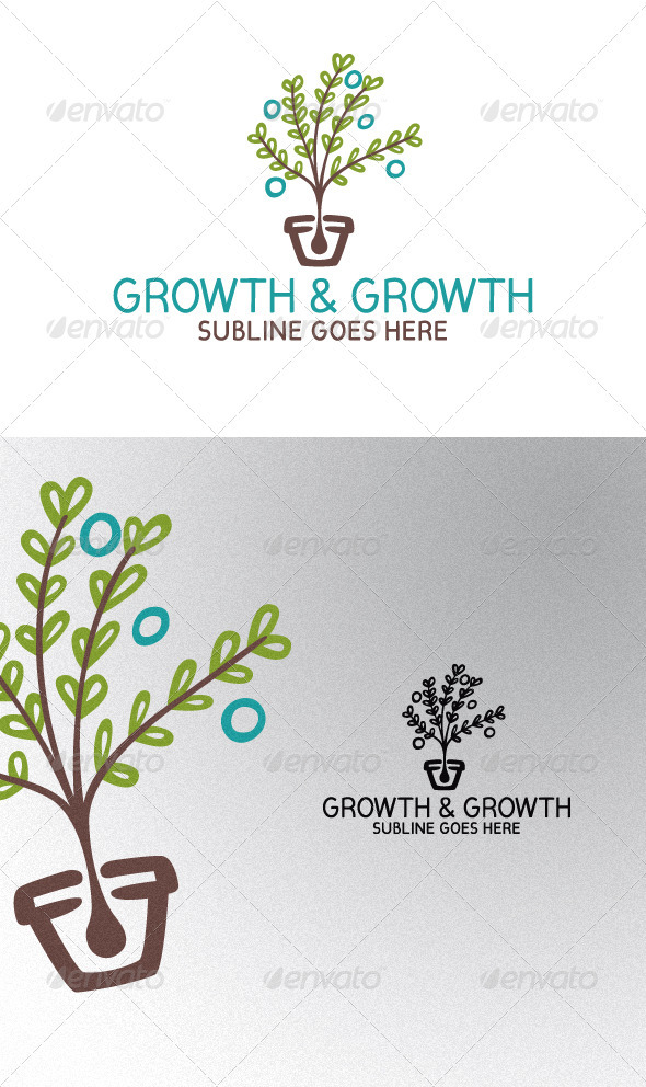 Plant in a Vase - Nature Logo Templates