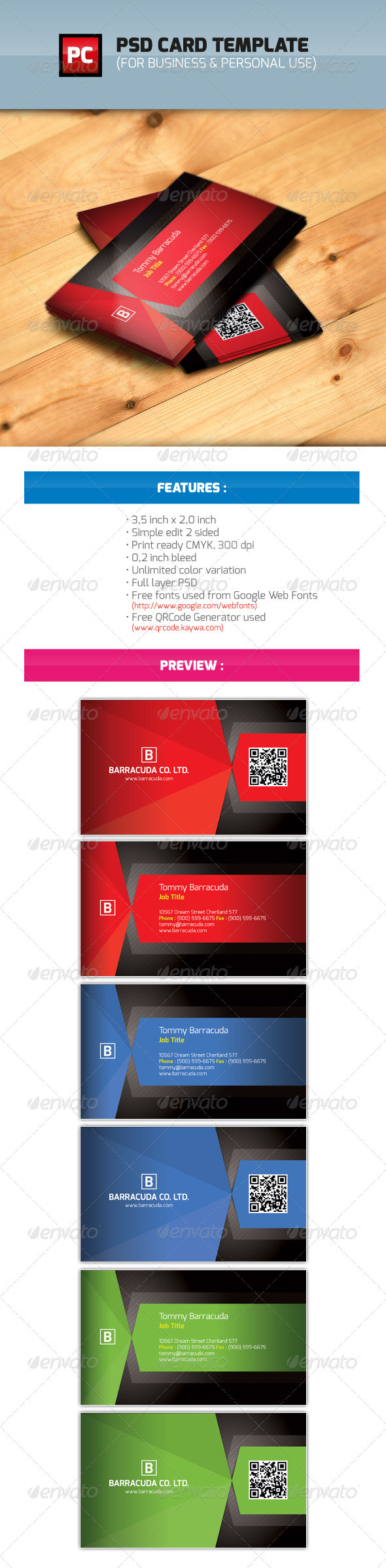 PSD Business & Personal Card Template - Business Cards Print Templates