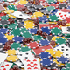 Casino chips, dice and poker cards background. - PhotoDune Item for Sale