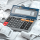Calculator with receipts. Home budjet, grocery expenses and cons - PhotoDune Item for Sale