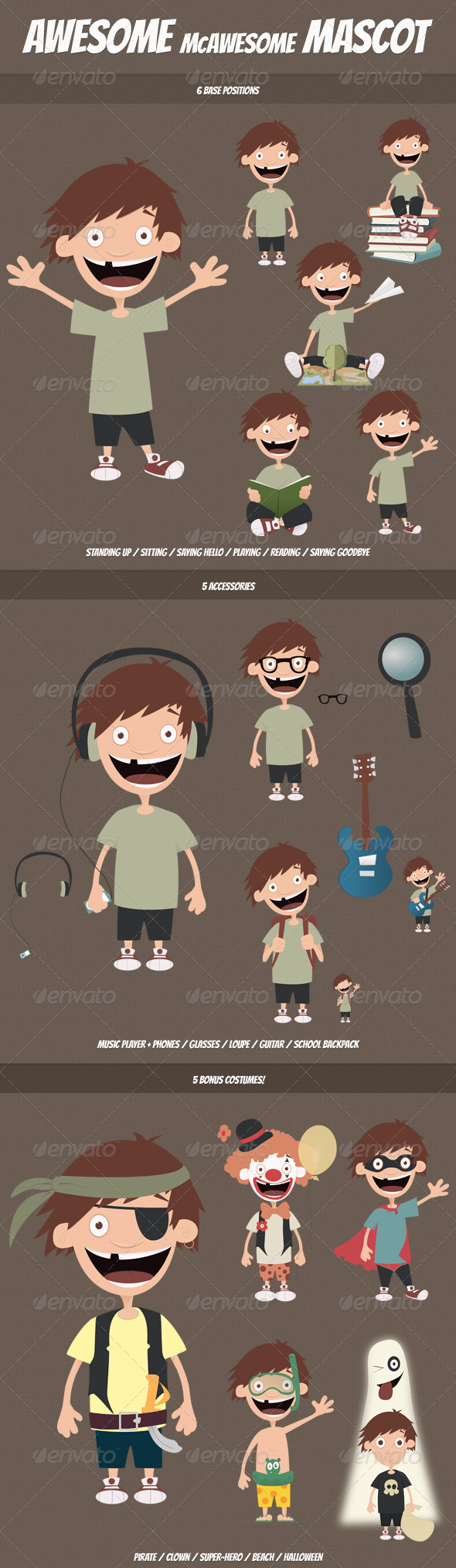 McAwesome Mascot - Characters Vectors