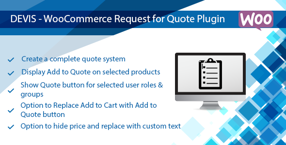 Devis - WooCommerce Request for Quote Plugin, Hide Price & Cart