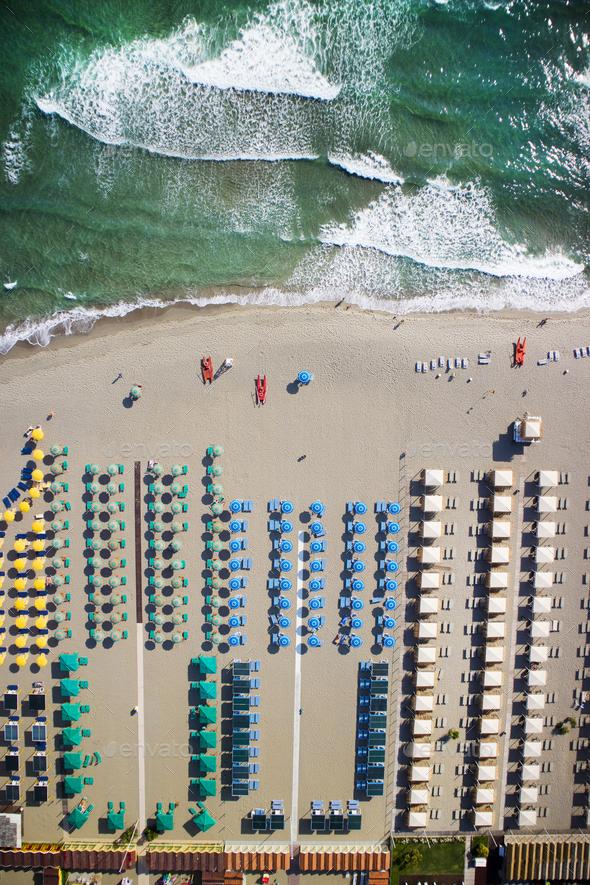 The beach of Forte dei Marmi - Stock Photo - Images