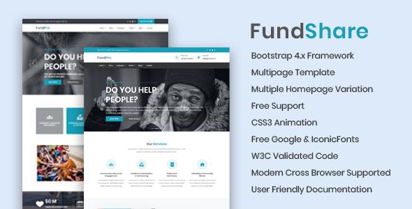 Marvelous FundShare - Premium HTML Template