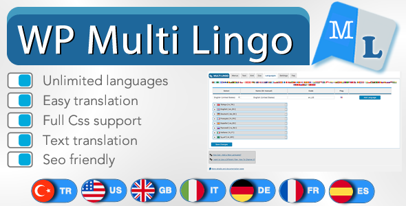 Download WP Multi Lingo Free Nulled