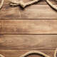 ship rope at wooden board background - PhotoDune Item for Sale