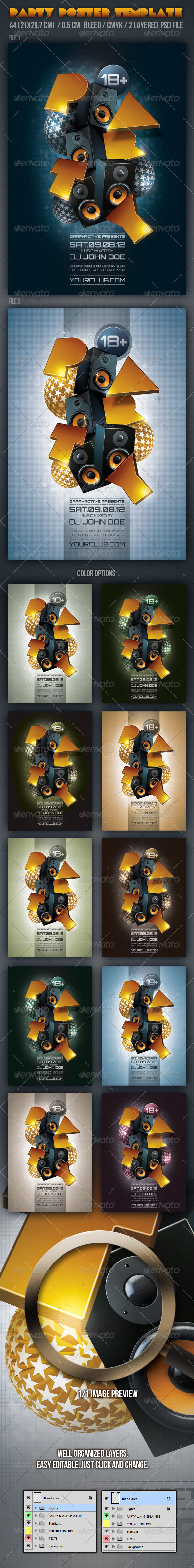 Party Poster Design Templates - Clubs & Parties Events