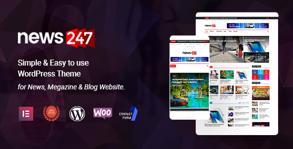 Extraordinary News247 - News Magazine WordPress Theme