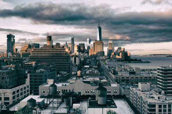 Manhattan from the West - Stock Photo - Images