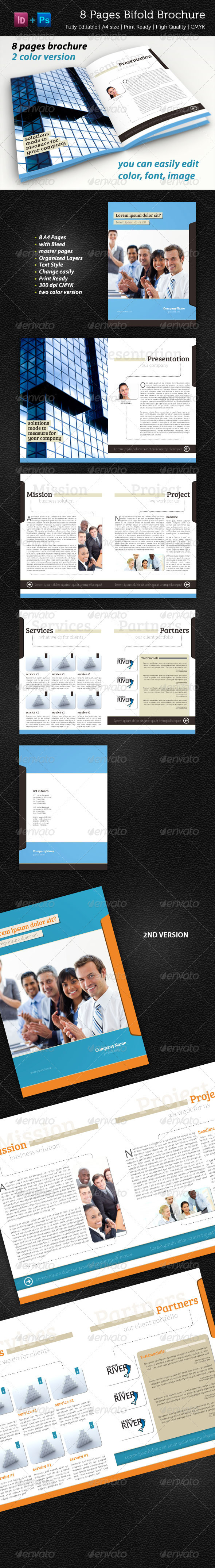 8 Pages Bifold Brochure - Corporate Brochures