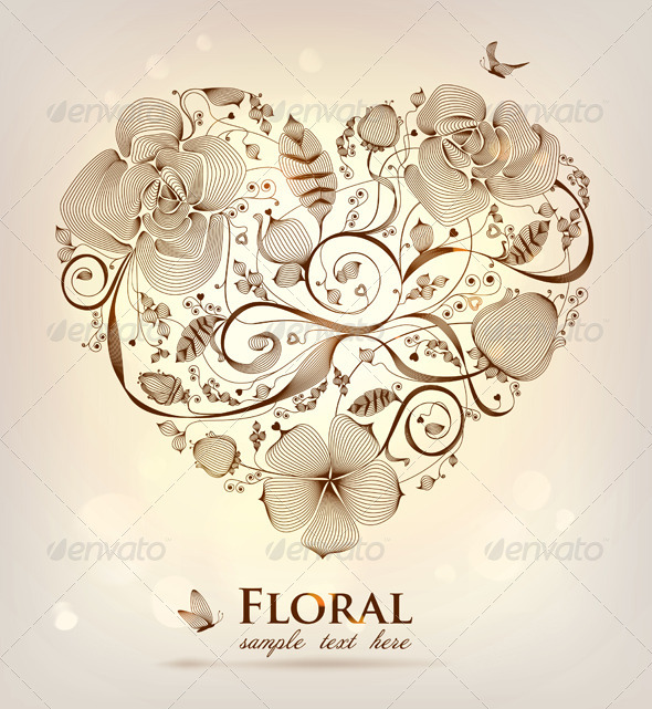Floral Heart - Decorative Symbols Decorative