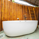 Beautiful luxury white bathtub decoration in bathroom - PhotoDune Item for Sale