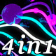 Neon Waves (4in1) - VideoHive Item for Sale