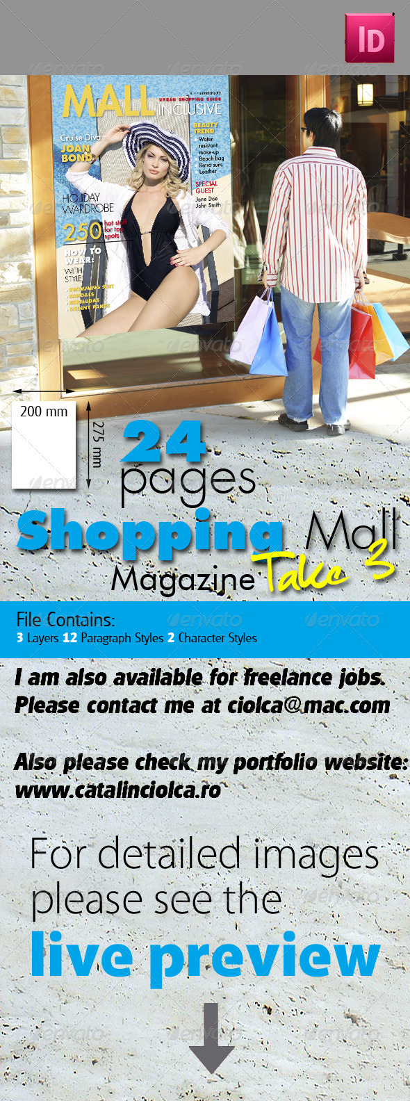 24 Pages Shopping Mall Magazine Take Three - Magazines Print Templates