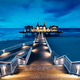 Sellin pier, Ruegen island, Germany at night - PhotoDune Item for Sale