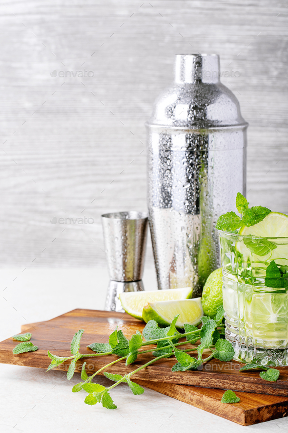 Home made mojito cocktail - Stock Photo - Images