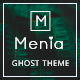 Free Download Menia - Responsive Minimal and Clean Ghost Theme Nulled