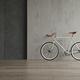 Blue bicycle on pink background 3D illustration - PhotoDune Item for Sale