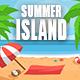Tropical Island Summer Logo