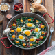 Healthy Spinach with fried egg, turkish cuisine - PhotoDune Item for Sale