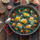 Ispanak yumurta or turkish fried egg with spinach - PhotoDune Item for Sale