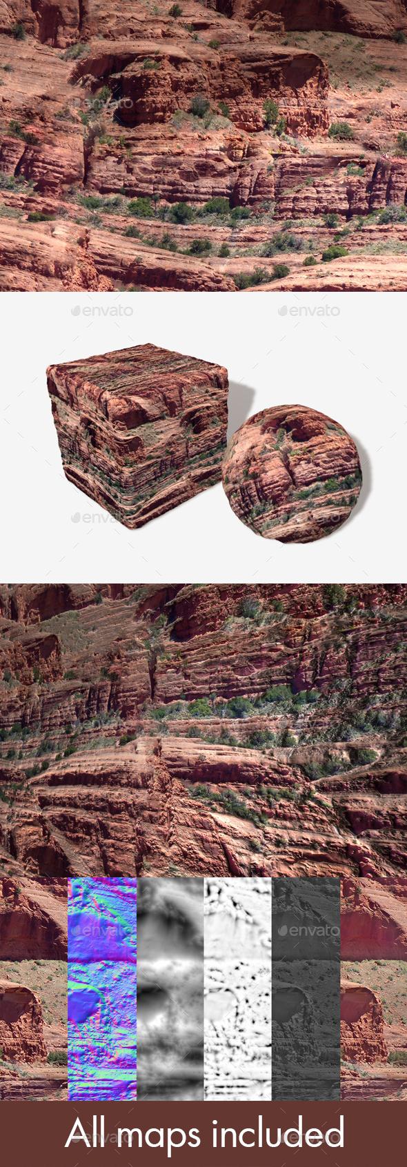 Red Rock Cliffs Seamless Texture