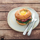 Homemmade Bacon Hamburger with Egg Lettuce and Tomato - PhotoDune Item for Sale