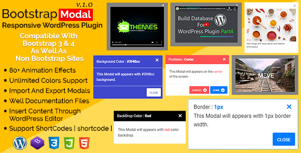 Bootstrap Modal – Responsive WordPress Plugin WordPress