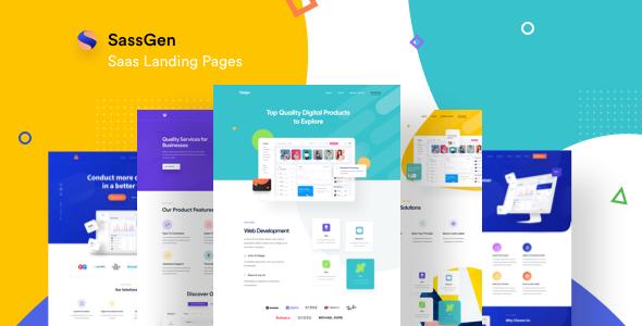Sassgen | SaaS Landing Page HTML Template by rtralrayhan