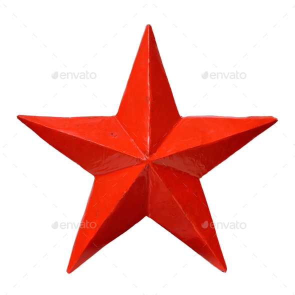 Red five-pointed star - Stock Photo - Images
