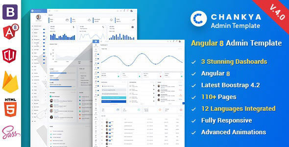 Angular 8 Bootstrap 4 Admin Template