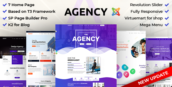 Agency: Multipurpose Joomla Website Template Using Framework