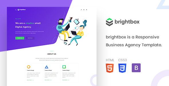Brightbox - Business Agency Template by MythicsDesign