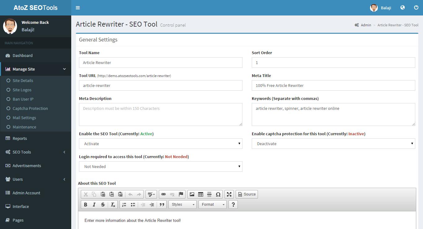 AtoZ SEO Tools - Search Engine Optimization Tools